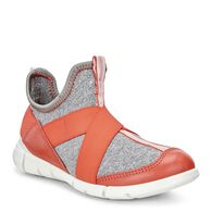 ECCO Intrinsic Kids Sneaker (CORAL BLUSH/CONCRETE-BLACK)