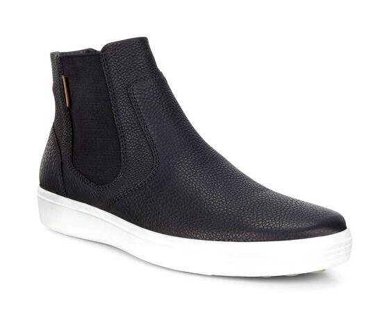 ECCO Mens Soft 7 Chelsea Boot (BLACK/LION)