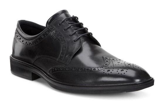 Chaussure lacée à bout rapporté ECCO Illinois (BLACK)