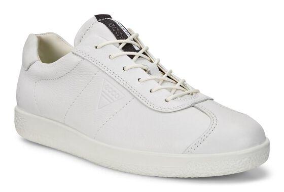 ECCO Mens Soft 1 Sneaker (BRIGHT WHITE)