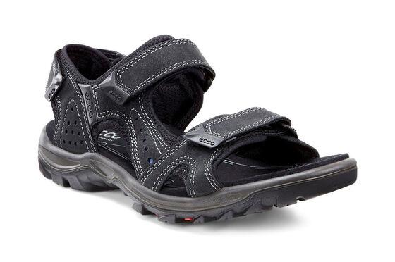 ECCO Mens Cheja Offroad Sandal (BLACK/DENIM BLUE)