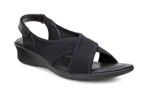 Sandale à bande ECCO Felicia (BLACK/BLACK)