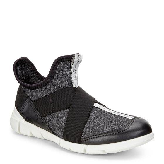 ECCO Intrinsic Kids Sneaker (BLACK/BLACK-WHITE)