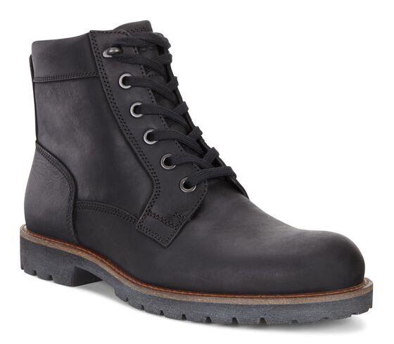 ECCO Jamestown Lace Boot (BLACK)