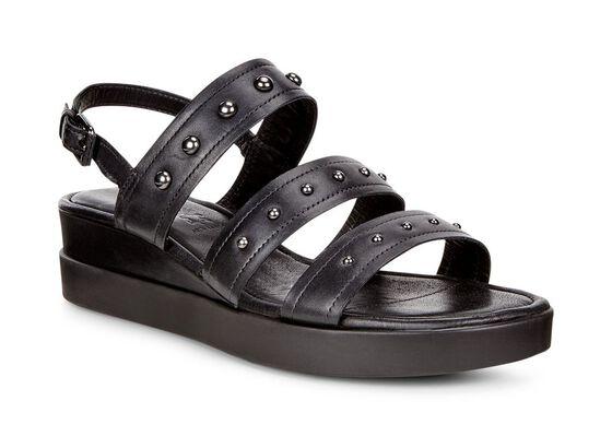 Chaussure à plateforme avec lanière ECCO Touch (BLACK)
