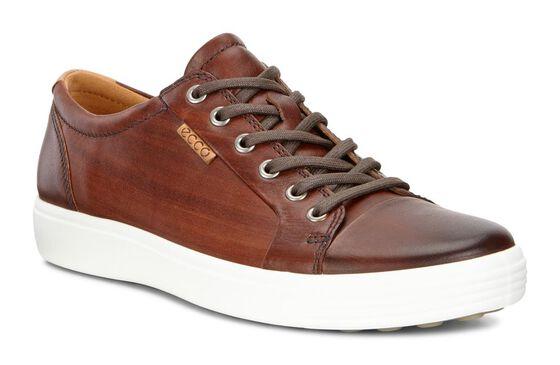 ECCO Mens Soft 7 Premium Sneaker (BORDEAUX)