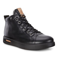ECCO Mens Corksphere 1 High  (BLACK/POWDER)