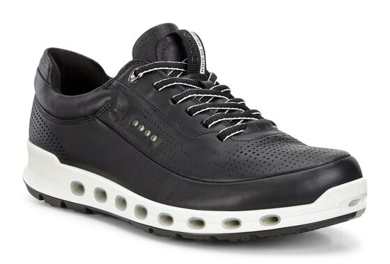 ECCO Mens Cool 2.0 GTX Leather Sneaker (BLACK)