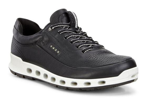 Sneaker ECCO Cool 2.0 GTX en cuir pour hommes (BLACK)