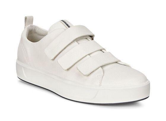 ECCO Womens Soft 8 Strap Sneaker (WHITE)