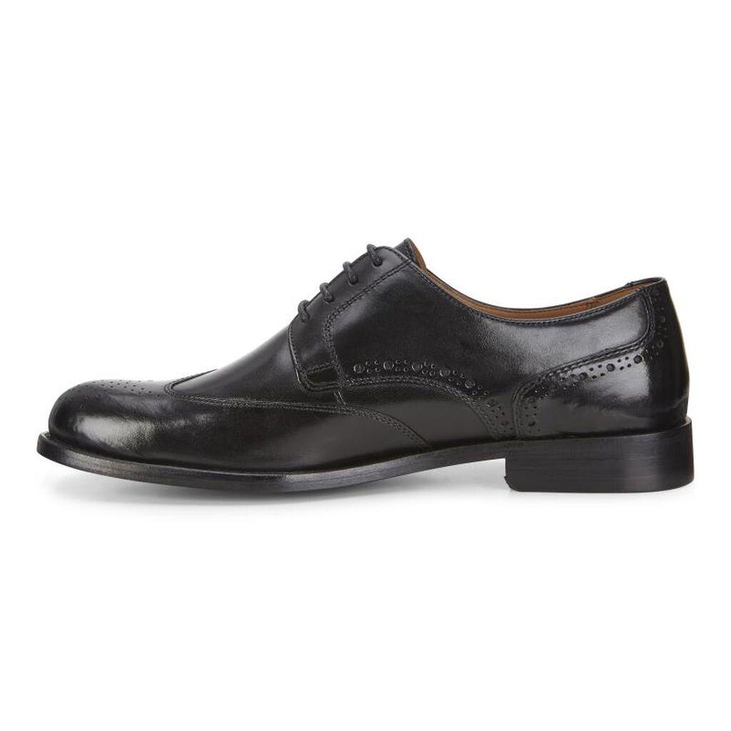 Ecco London Wing Tip Tieecco Tie Black 01001