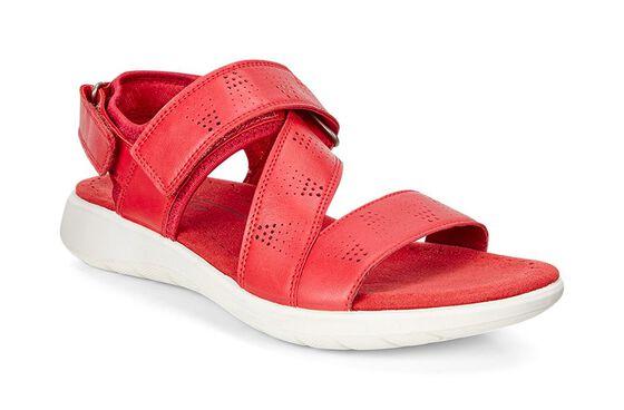 ECCO Soft 5 Cross Strap Sandal (TOMATO/TOMATO)