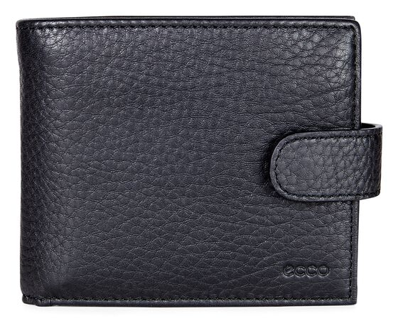 ECCO Gordon Flap portefeuille à fermoir (BLACK)