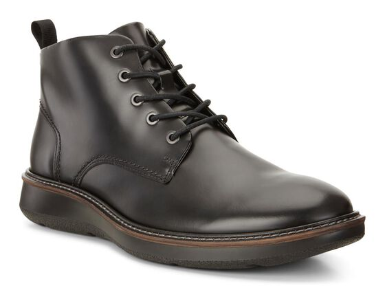 ECCO Lhasa Plain Toe Boot (BLACK)