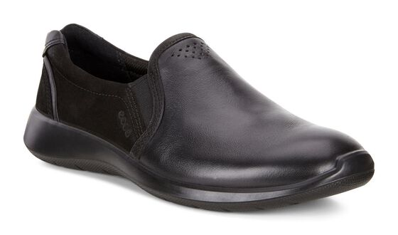 Slip-on ECCO Soft 5 (BLACK/BLACK)