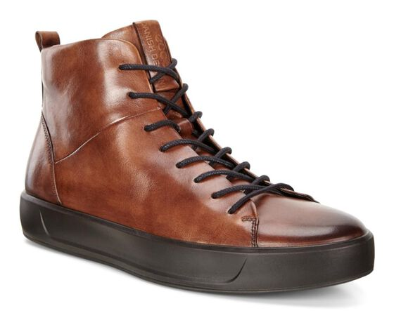 Chaussure montante ECCO Soft 8 Street pour hommes (LION)