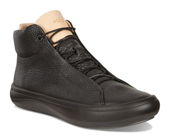 ECCO Womens Kinhin Mid (BLACK/VEG TAN)
