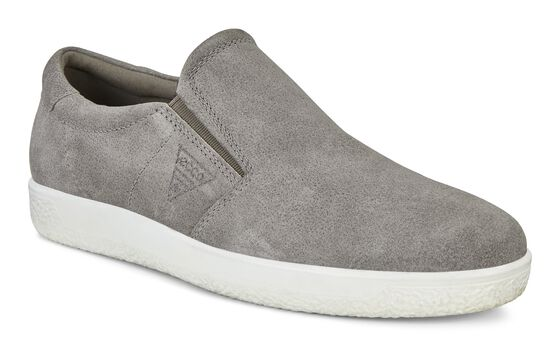 ECCO Mens Soft 1 Slip On (WARM GREY)