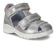 ECCO Peekaboo Sandal (SILVER METALLIC)