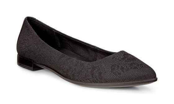 ECCO Shape Textured BallerinaECCO Shape Textured Ballerina in BLACK/BLACK (51052)