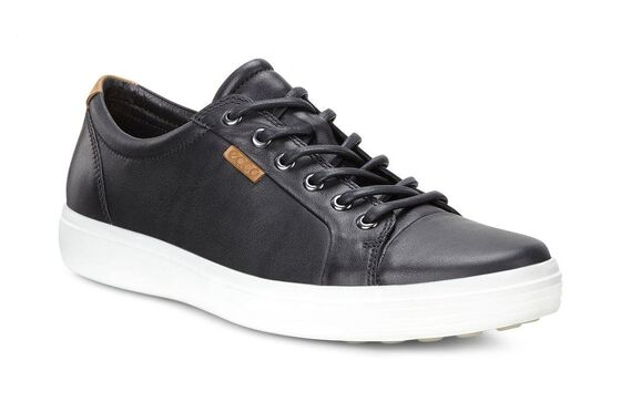 ECCO Mens Soft 7 Sneaker (BLACK)