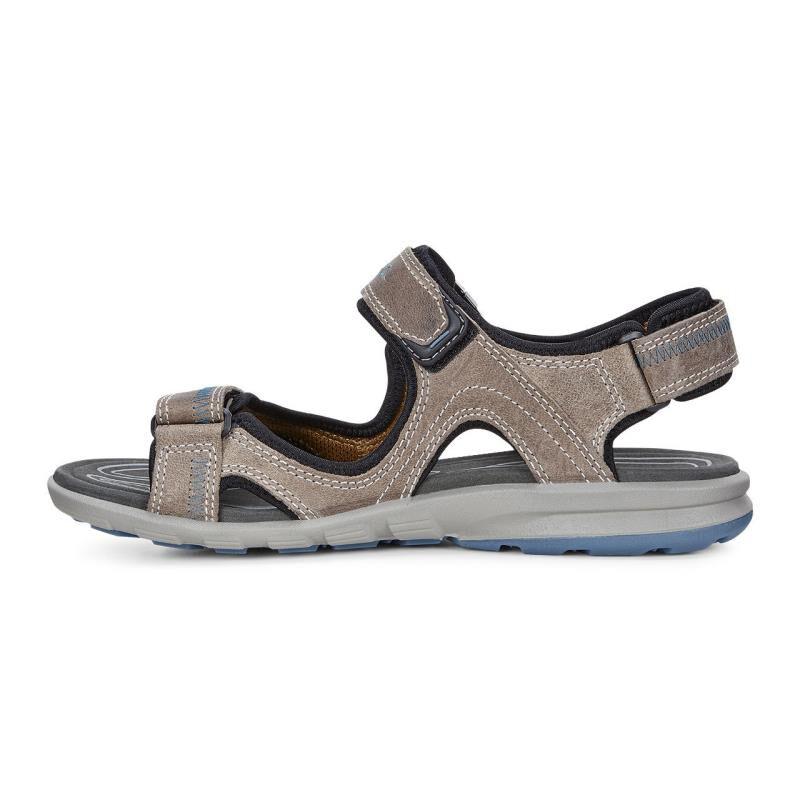 ... ECCO Mens Cruise SandalECCO Mens Cruise Sandal MOON ROCK/PETROL (59569)  ...