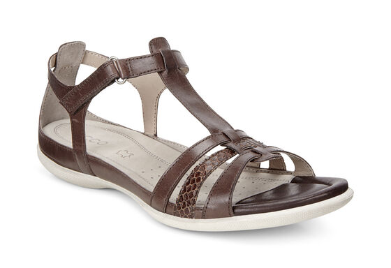 ECCO Flash T-Strap Sandal (COFFEE/COFFEE)