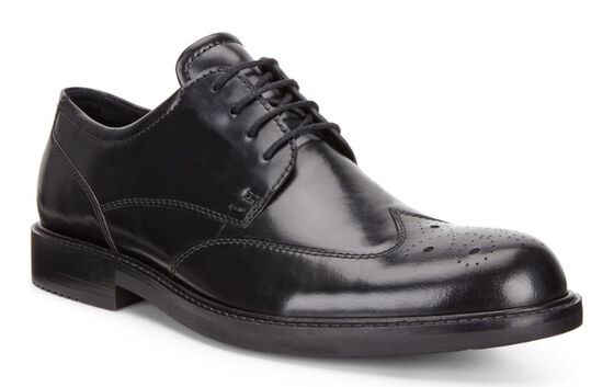 ECCO Kenton Brogue Tie (BLACK)
