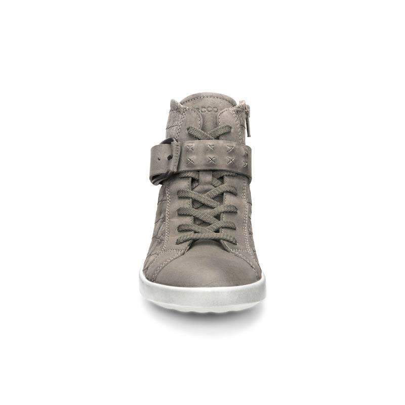 Womens Shoes ECCO Aimee High Top Sneaker Moon Rock/Moon Rock