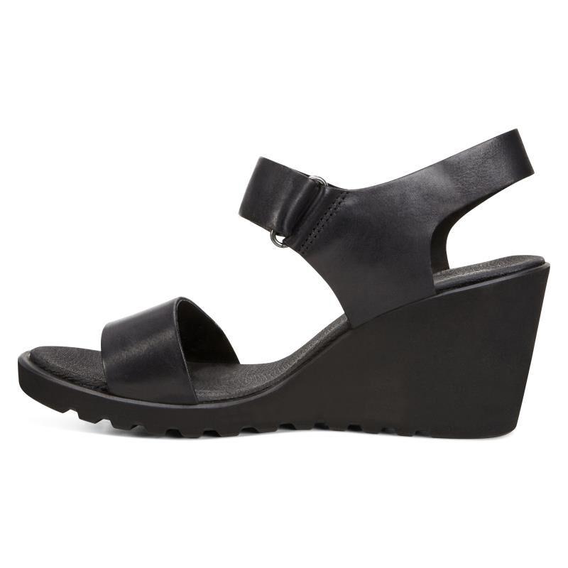 ... ECCO Freja Wedge Strap SandalECCO Freja Wedge Strap Sandal BLACK  (02001) ...