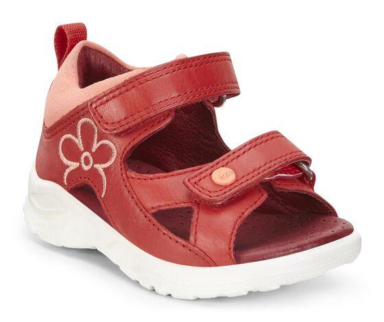 Sandale ECCO Peekaboo pour bébés (TOMATO/CORAL)