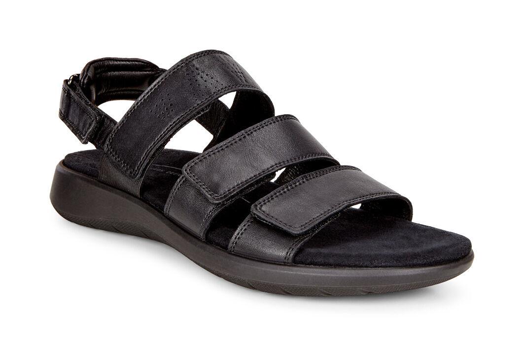 ECCO Soft 5 3-Strap SandalECCO Soft 5 3-Strap Sandal BLACK (01001 ...