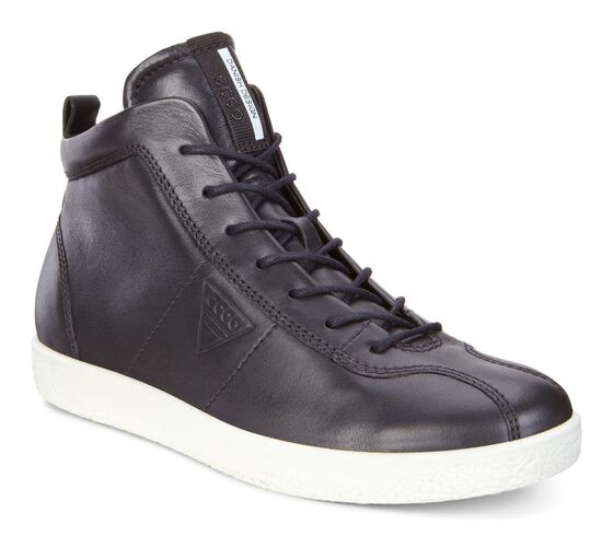 ECCO Womens Soft 1 High Top (BLACK)