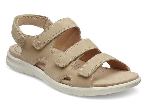 ECCO Babett 3 Strap Sandal (SAND)