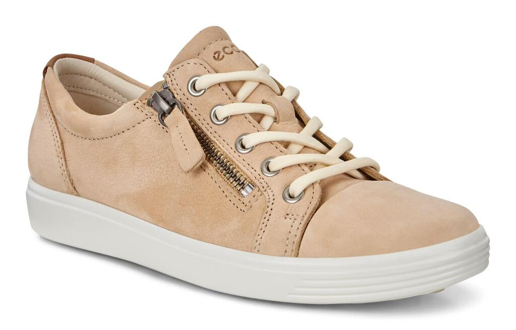 Ecco Women S Soft 7 Side Zip Sneakers Ecco Canada
