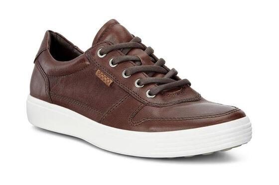 ECCO Mens Soft 7 Retro Sneaker (WHISKY/LION)