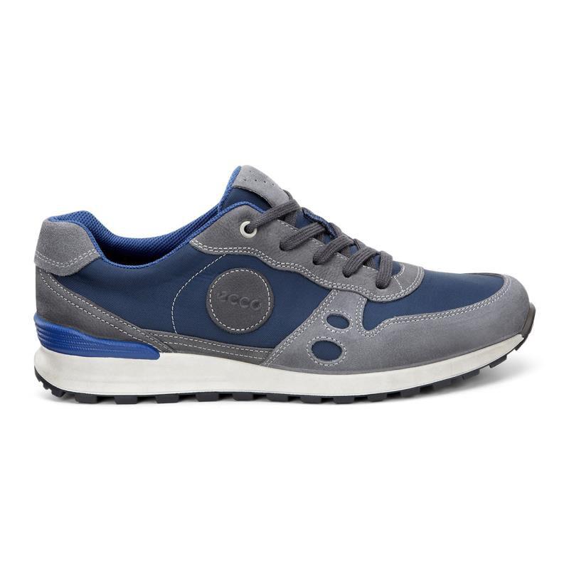 Mens Shoes ECCO CS14 Retro Sneaker Titanium/True Navy/Moonless