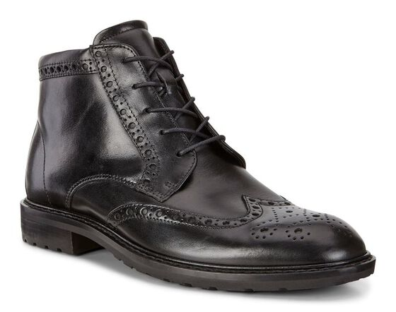 ECCO Vitrus I Wing Tip Boot (BLACK)