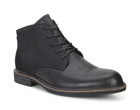 ECCO Kenton Plain Toe Boot (BLACK/BLACK)