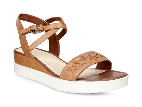 ECCO Touch Braided Plateau Sandal (WHISKY)
