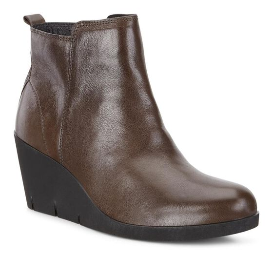 ECCO Bella Wedge Bootie (TARMAC)