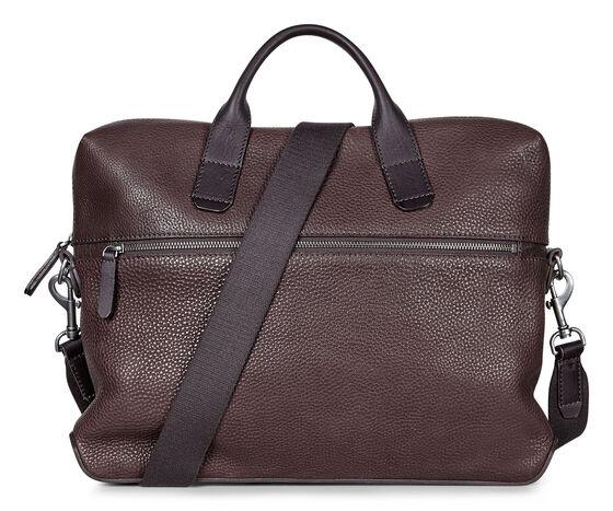 ECCO Ioma Slim Briefcase (COFFEE)