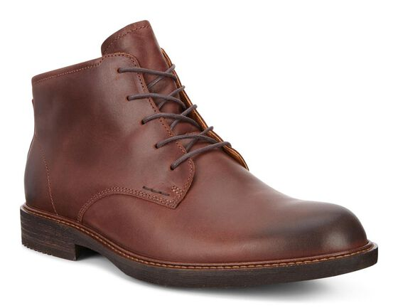 ECCO Kenton Plain Toe Boot (MINK)