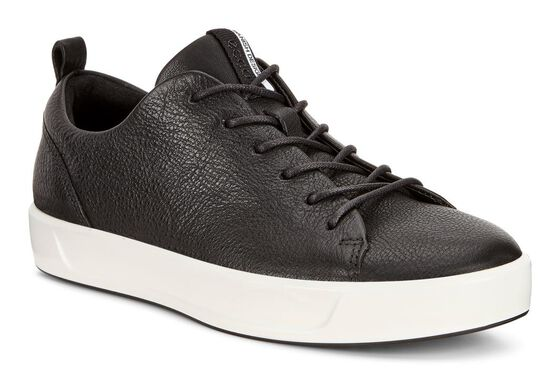 ECCO Womens Soft 8 Sneaker (BLACK)