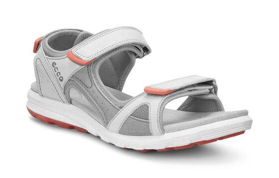 ECCO Womens Cruise Sandal (SHADOW WHITE/SILVER GREY/CORAL)