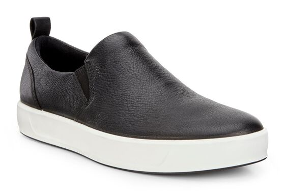 Slip On ECCO Soft 8 pour hommesSlip On ECCO Soft 8 pour hommes in BLACK (01001)