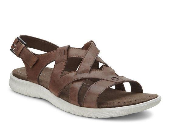 ECCO Babett Sandal Cross Strap (MAHOGANY)
