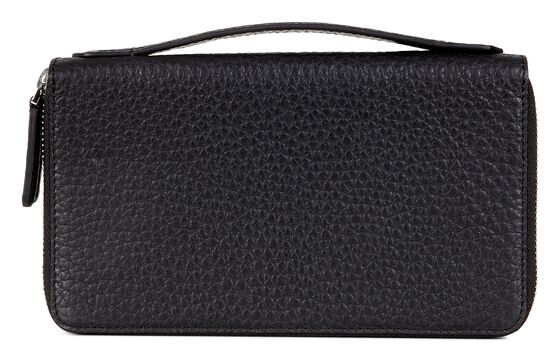 ECCO Mads Double Zip Clutch (BLACK)