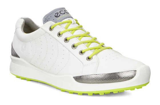 ECCO M GOLF BIOM HYBRID Golf S (WHITE/LIME PUNCH)
