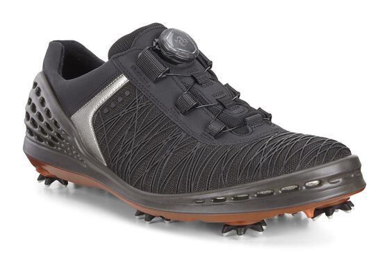 ECCO Mens Golf Cage Boa (BLACK/FIRE)